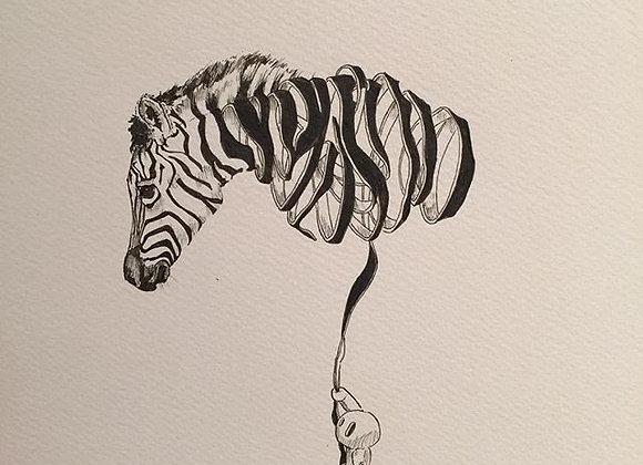 Zebra  deconstructed ballon