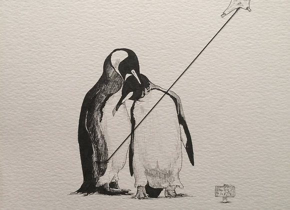 Kite Flying Penguins