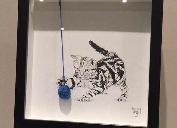 Cat ball of string