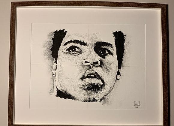 Ali portrait on paper