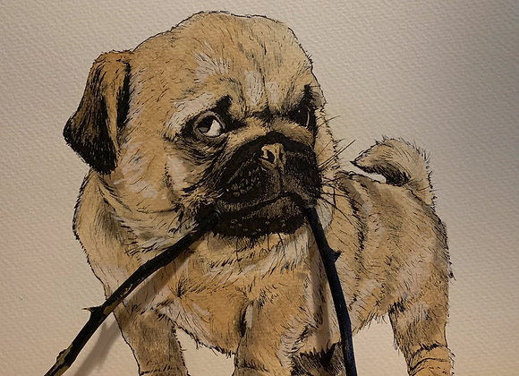 Pug and Stick
