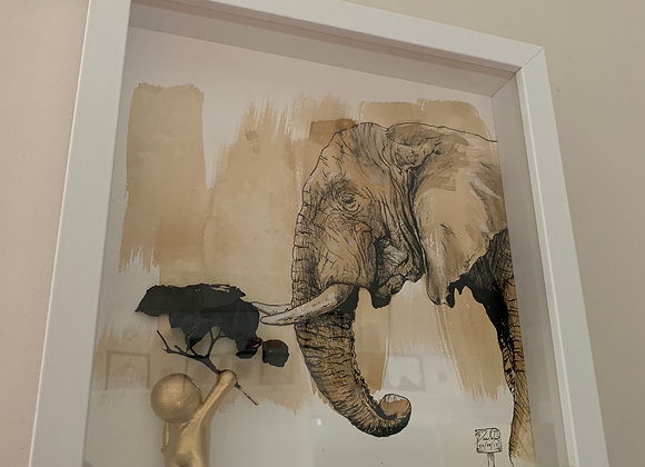 Coffee Elephant and Gold