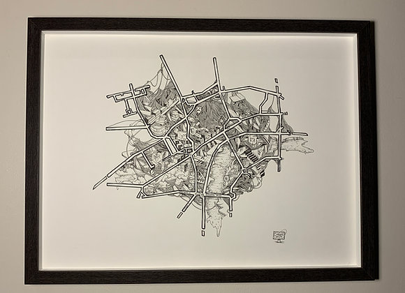 49.Map of London Streets String