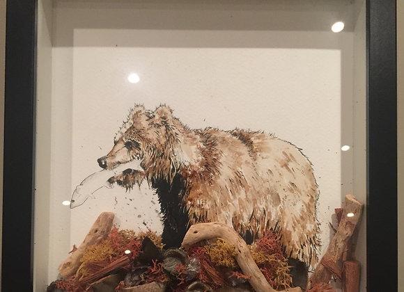 Coffee bear fishing