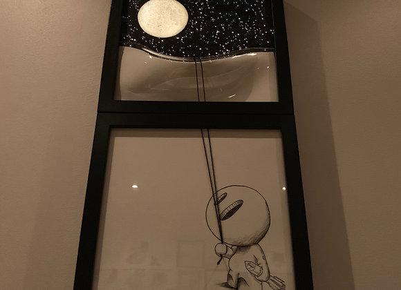 Double moon spaceman lightbox