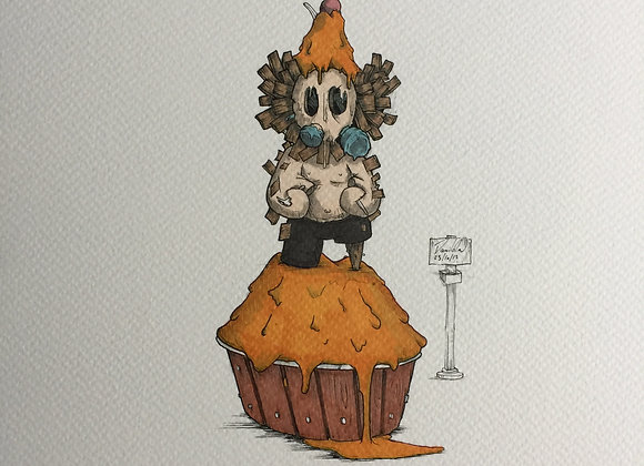 Cupcake orange