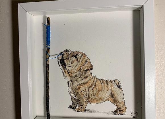 9.Doggy blue string