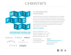 Christie's Multiplied Artfair