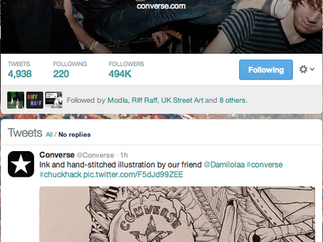 Converse Showing some love for Damilola's Art