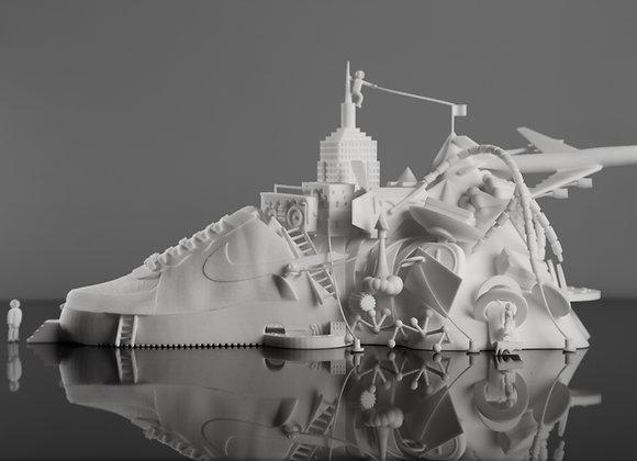 Air Force 1 3D Printed Sculpture