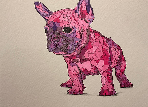 Pink Frenchie Geo