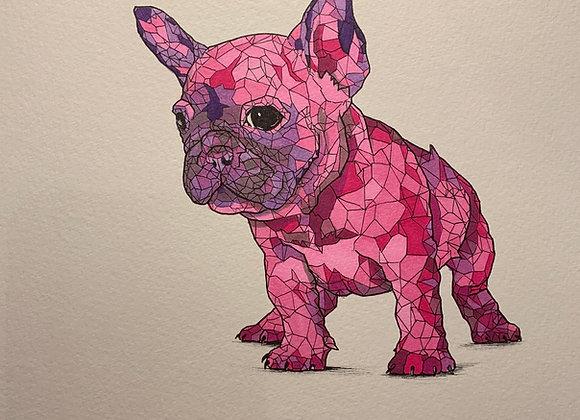 Pink Frenchie Geo