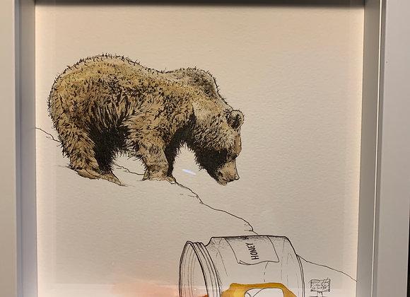 45.Big honey bear