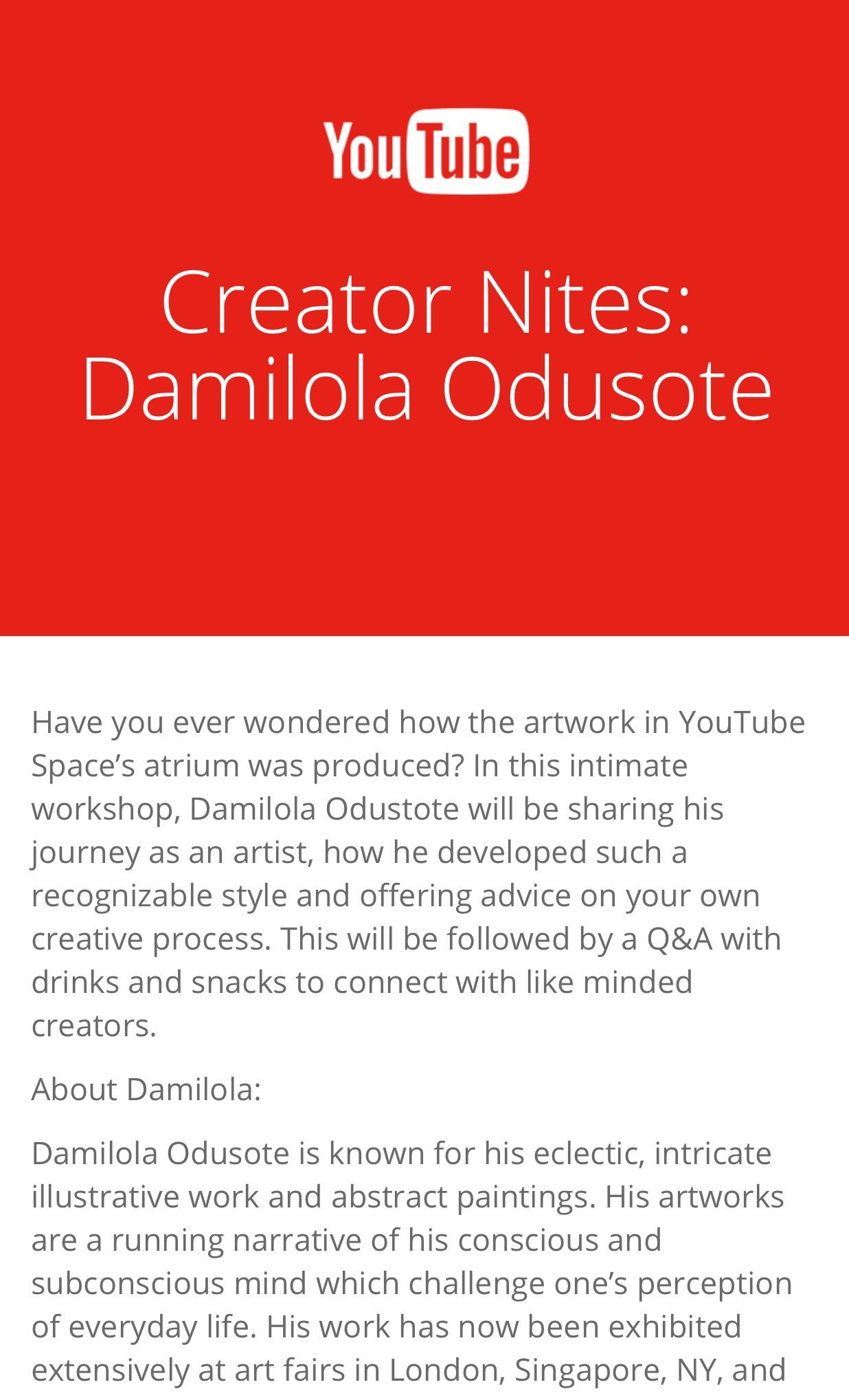 YouTube Creator Nites 2017