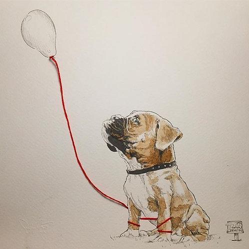 Coffee Dog and Balloon