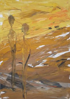 23 - 2012 - Gouache auf Leinwand - 50 x 69 cm