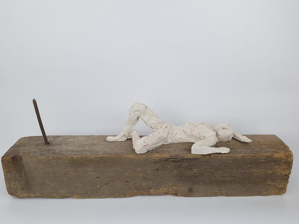 10 - 2019 - Ton, Holz und Eisen - 52,5 x 17 x 11 cm