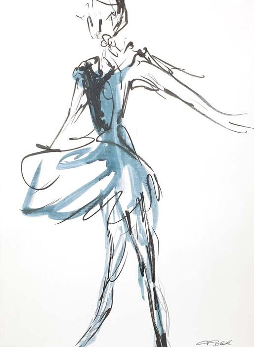 19 - 2018 - Tanz auf Papier - Mischtechnik - 35 x 47 cm