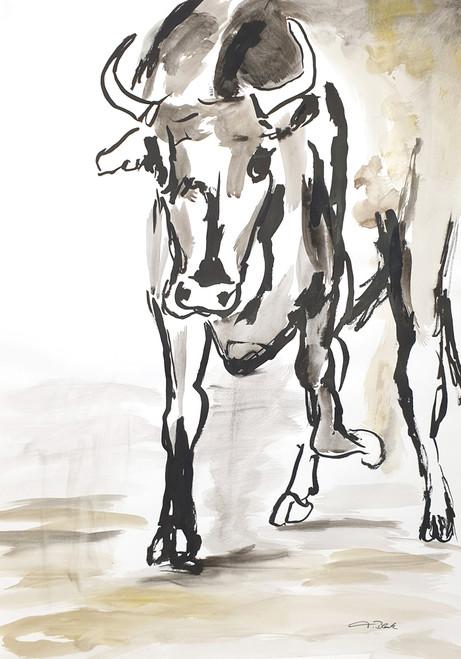 12 - 2019 - Stier - Mischtechnik auf Papier - 42 x 59,4 cm