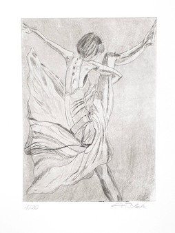 20 - 2019 - Tanz auf Papier - Radierung, Aquatinta - 10 x 13,5 cm