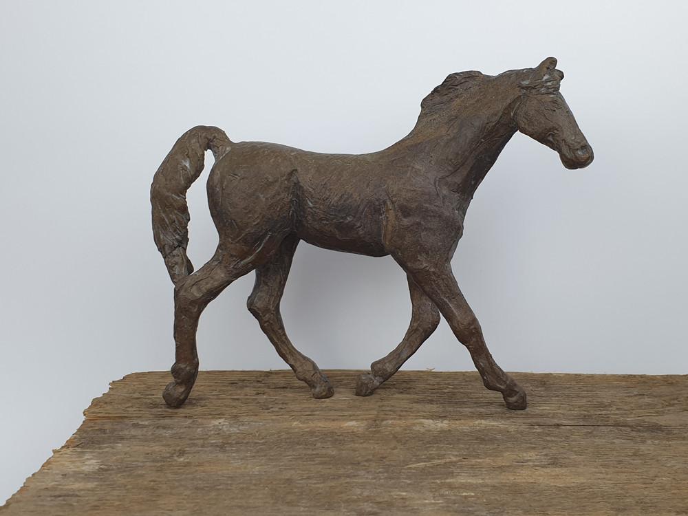 14 - 2018 - Bronze und Holz - 33,5 x 24 x 20 cm