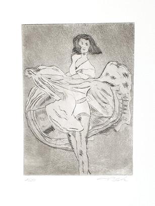 21 - 2019 - Tanz auf Papier - Radierung, Aquatinta - 10 x 13,5 cm