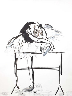 03 - 2018 - Tanz auf Papier - Mischtechnik - 50 x 63 cm