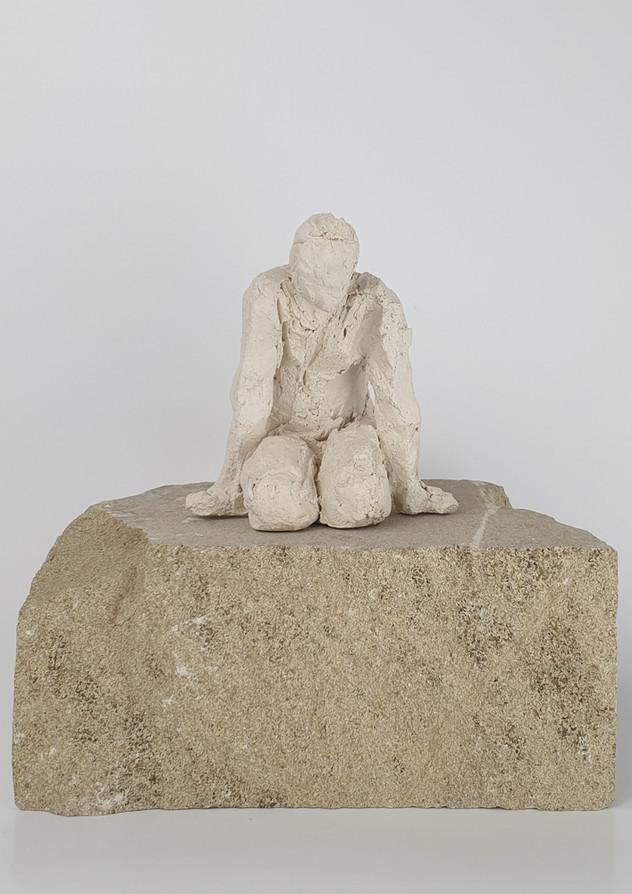 13 - 2018 - Ton und Sandstein - 18 x 18 x 13 cm
