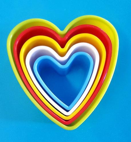 Cortante plástico, Corazón