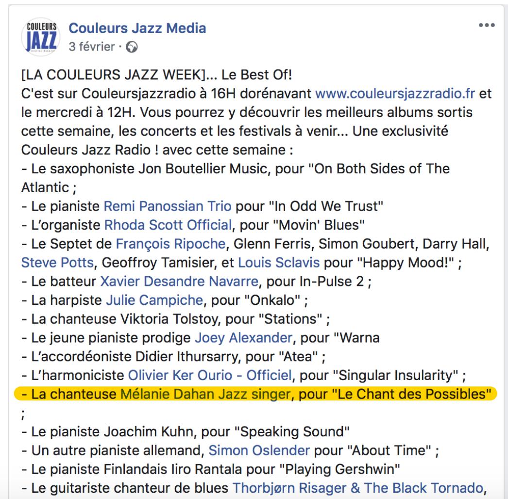 Couleurs jazz media