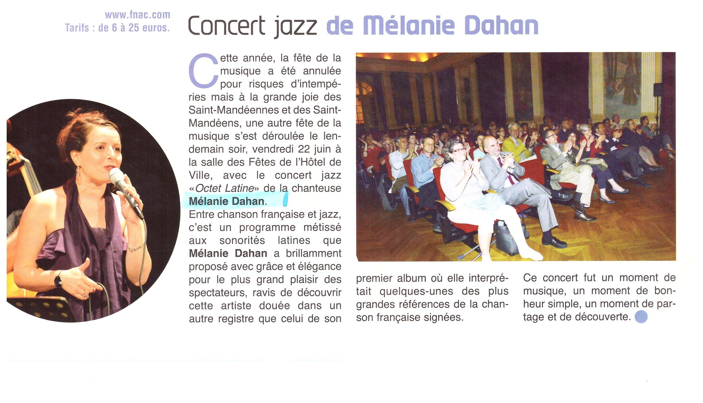 Concert à St mandé