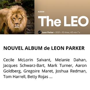 NOUVEL ALBUM de LEON PARKER dans lequel j'ai l'honneur de chanter aux cotés de Cecile McLo