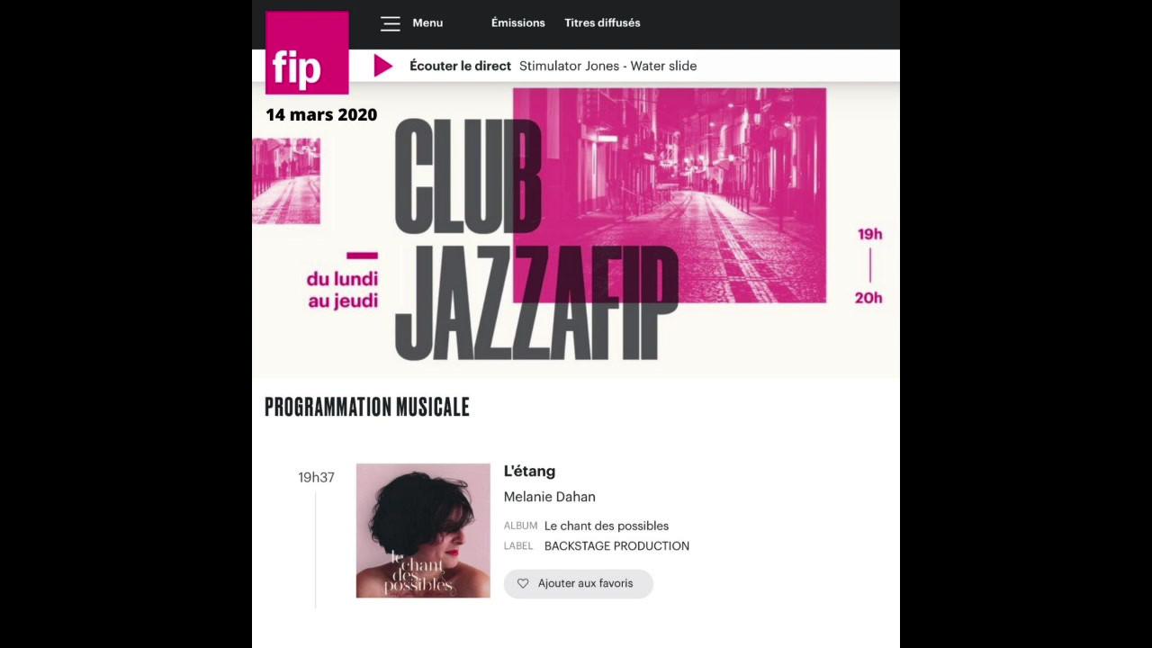 Club Jazz à Fip 14 mars - l'étang