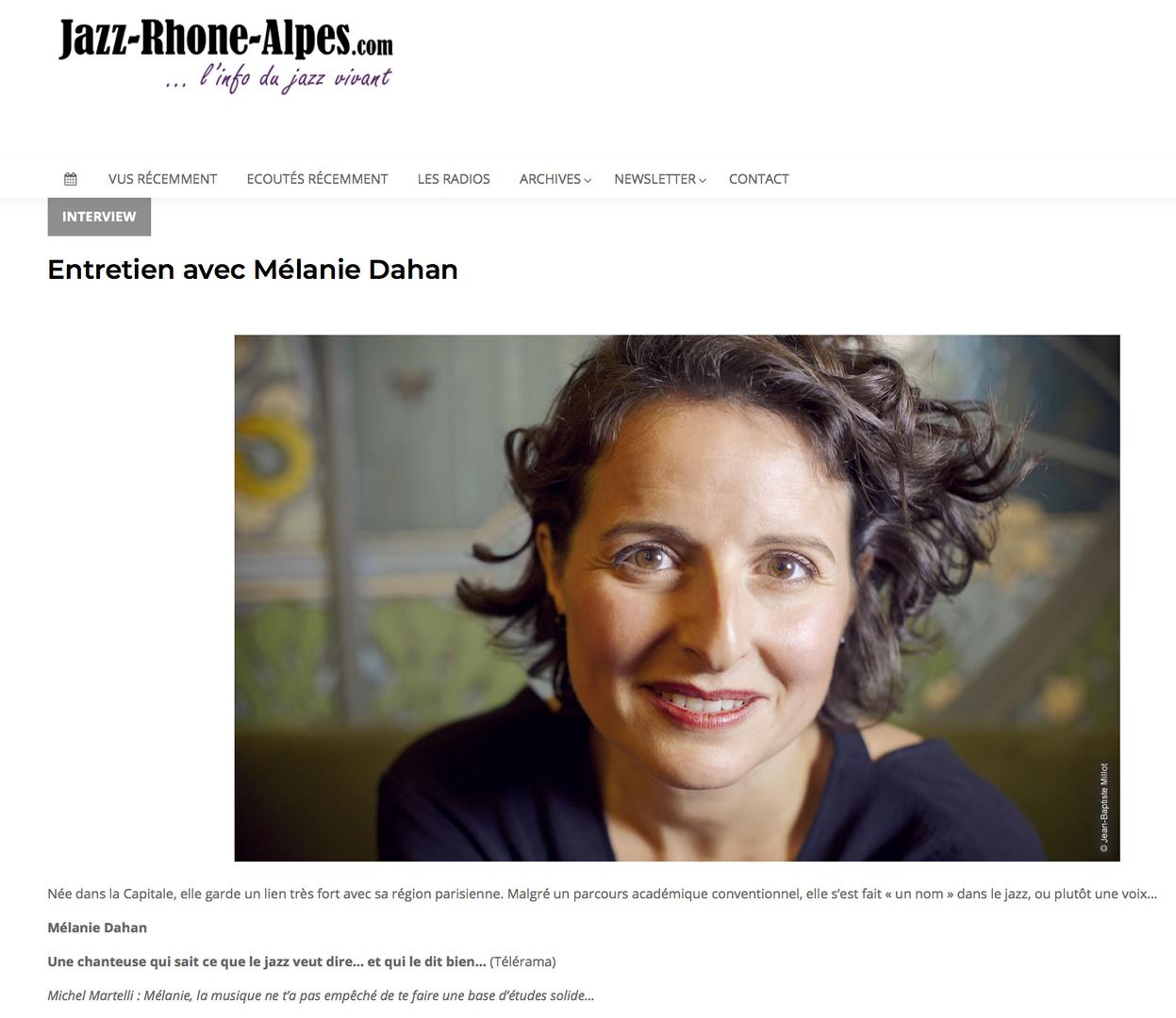 Interview sur Jazz Rhone Alpes