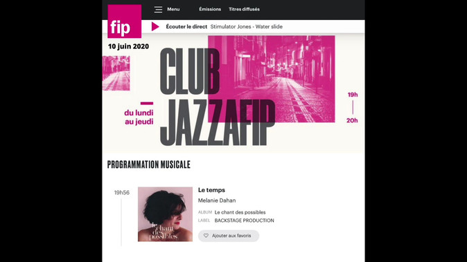 CLUB JAZZ A FIP 10JUIN20