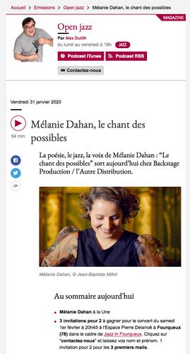Open jazz France musique 31janv20