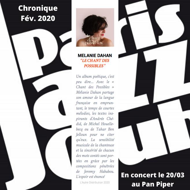 Chronique paris jazz club
