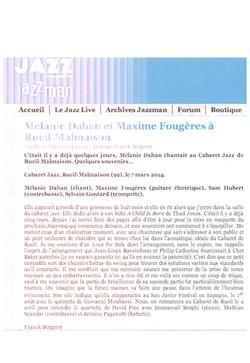Jazzmag Concert à Rueil