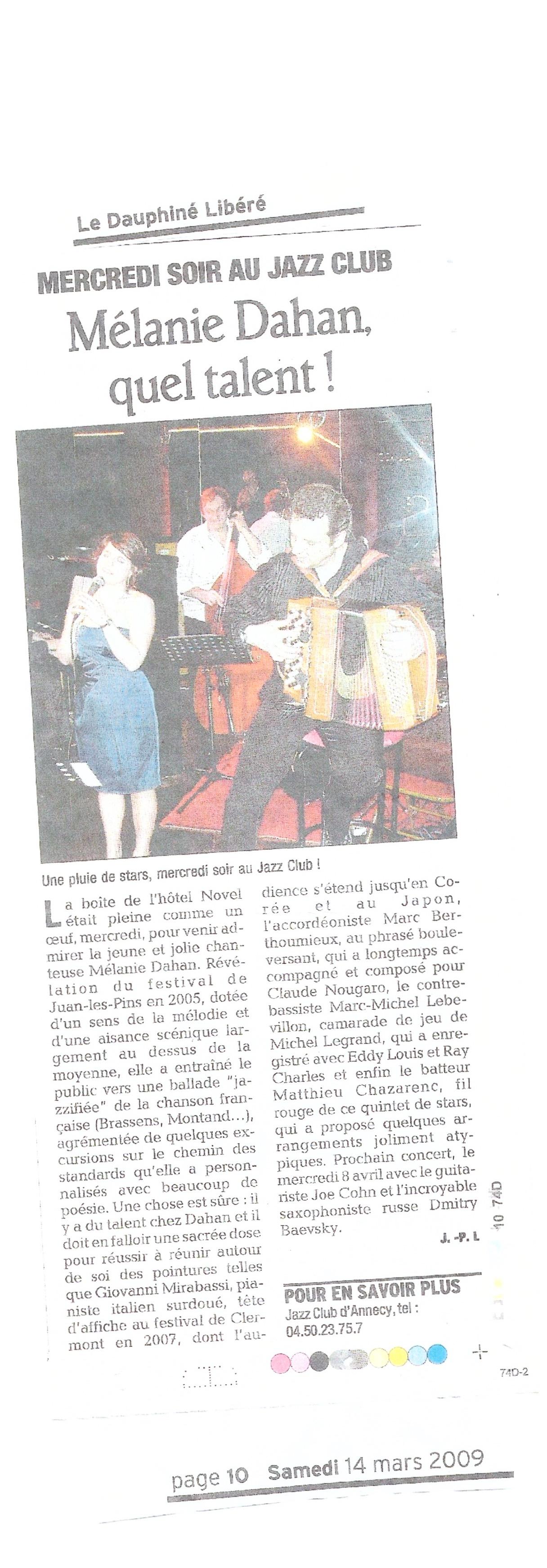 Concert à Annecy