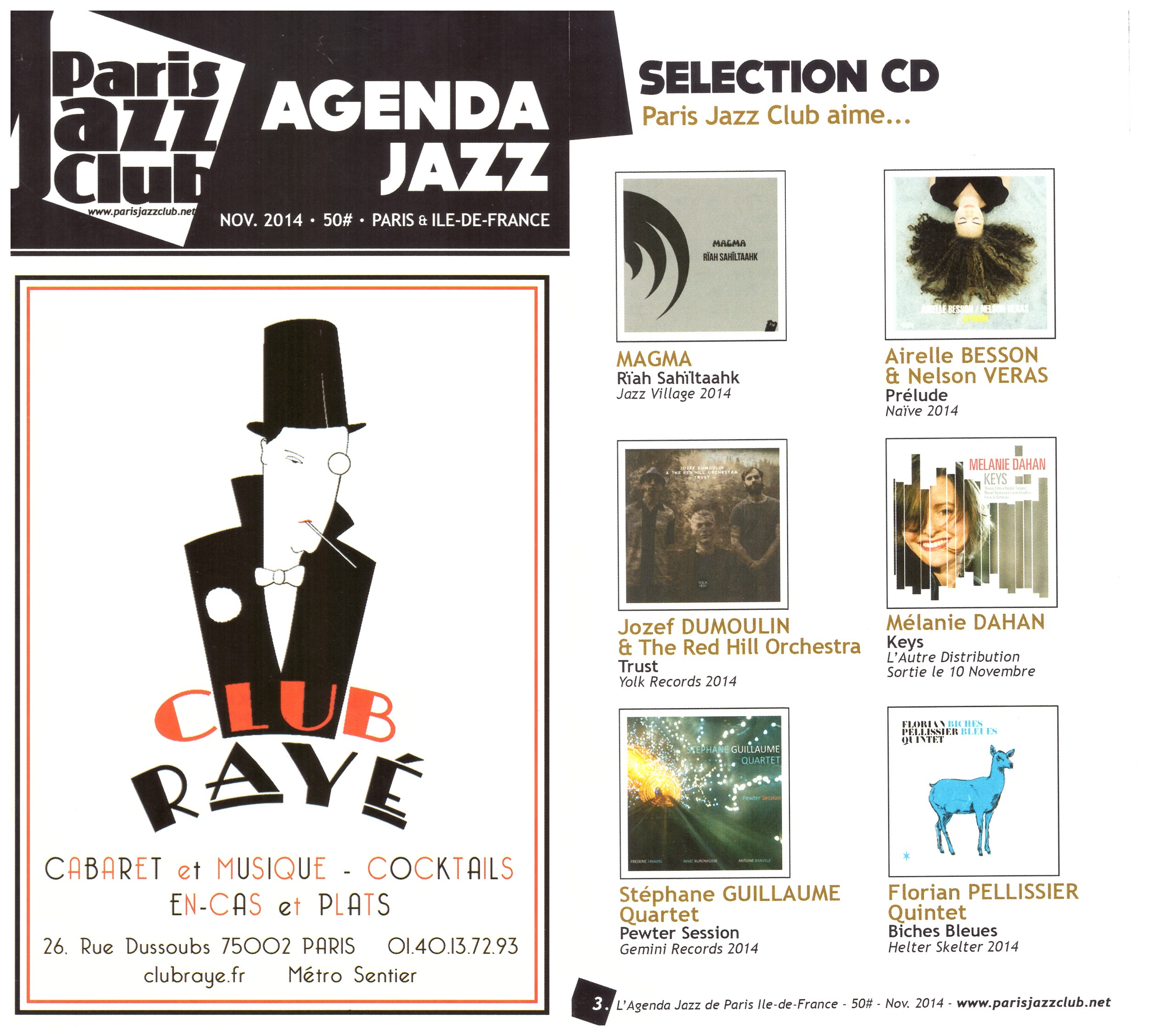 "Paris jazz club - Selection album ""Keys"""