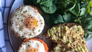 Shredded Sweet Potato Baked Egg Nests