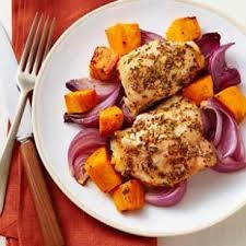 Roasted Chicken and Yams