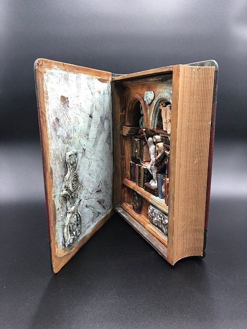 Book Volume Miniature Bookcase