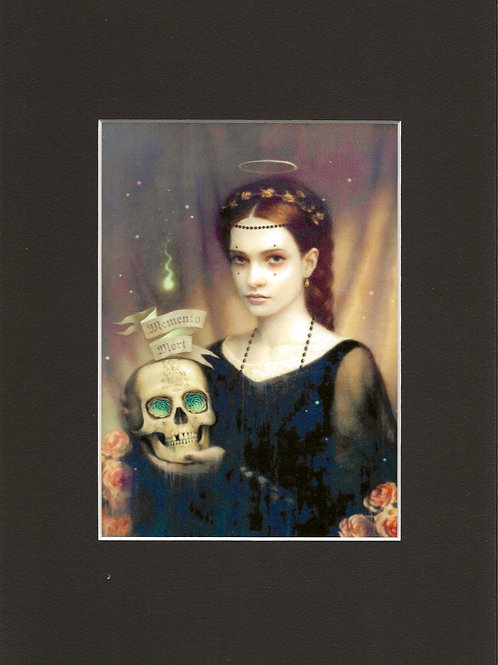 Lady with Skull