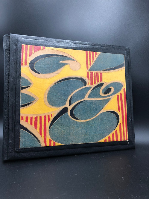 Art-Deco leather notebook