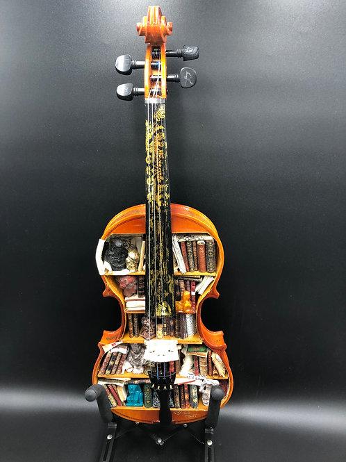 Violin miniature Bookcase