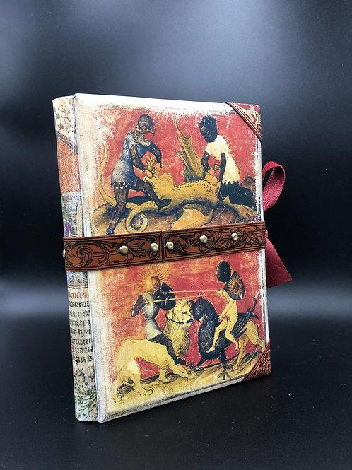 Alchimia vellum painted notebook