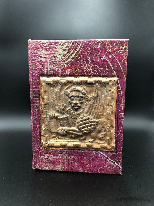 Cooper Lion red leather notebook