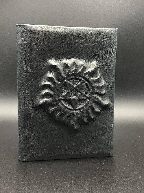 Starsun black leather notebook