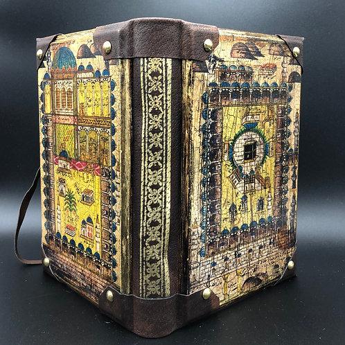 Arabic art wood-painted notebook